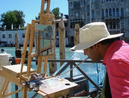 Painting 'en plein air'