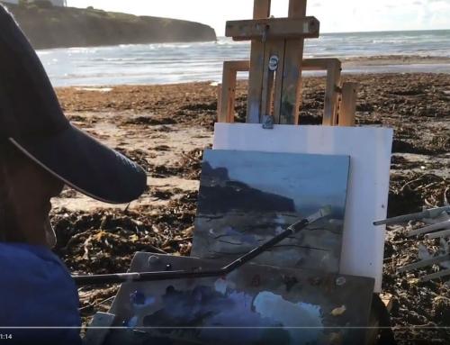 Beach Painting Porthcothan 2017