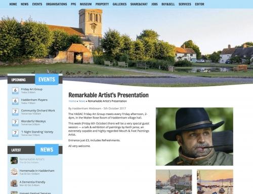 Talk to Haddenham Art Group 6th October