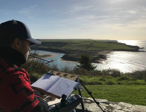 Incredible weather at Bigbury-on-Sea, understanding the landscape with a sketch